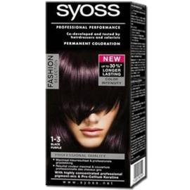 Syoss haarverf 1-3 Black Purple