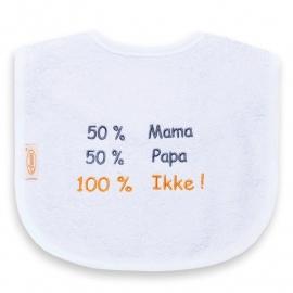 Slab '50% mama 50% papa 100% Ikke'