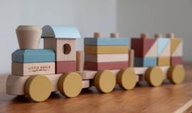 Houten blokkentrein pure & nature | Little Dutch