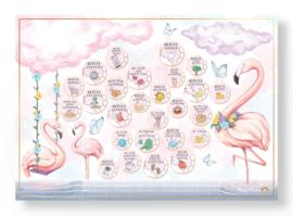 Flamingo Milestone krasposter A2 | Mini Miles