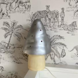 Paddenstoel Lamp zilver | Heico