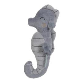 Pluche rammelaar  zeepaardje blauw | Little Dutch