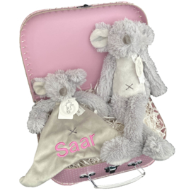 Kraamcadeau koffer Muis Mindy |  Happy Horse