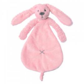 Knuffeldoekje met naam |  Konijn Richie roze | Happy Horse
