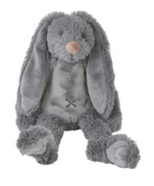 Knuffelkonijn met naam |  Tiny Richie diep grijs 28 cm | Happy Horse