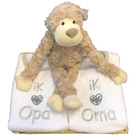 Cadeaumandje 'Ik hou van OMA en OPA'