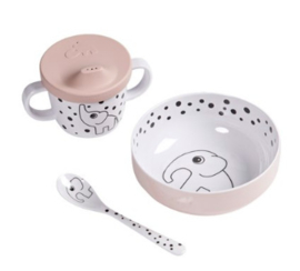 First meal eetset Happy dots roze | Done by Deer