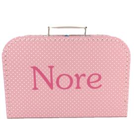 Koffertje met naam | Roze 25 cm