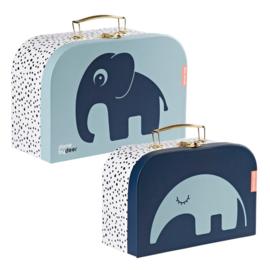 Set van 2 koffers blauw | Done by Deer