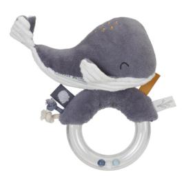 Ringrammelaar walvis blauw | Little Dutch