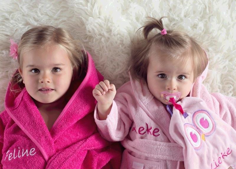 Peuter badjas met naam | 2-4 jaar | Meisje