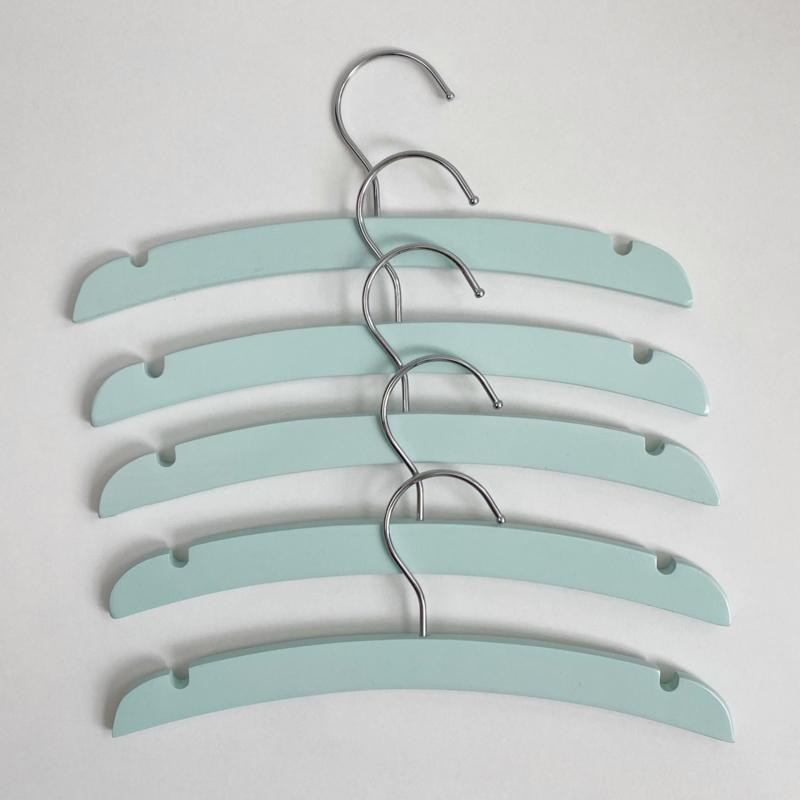 Set van 5 kledinghangers Mint