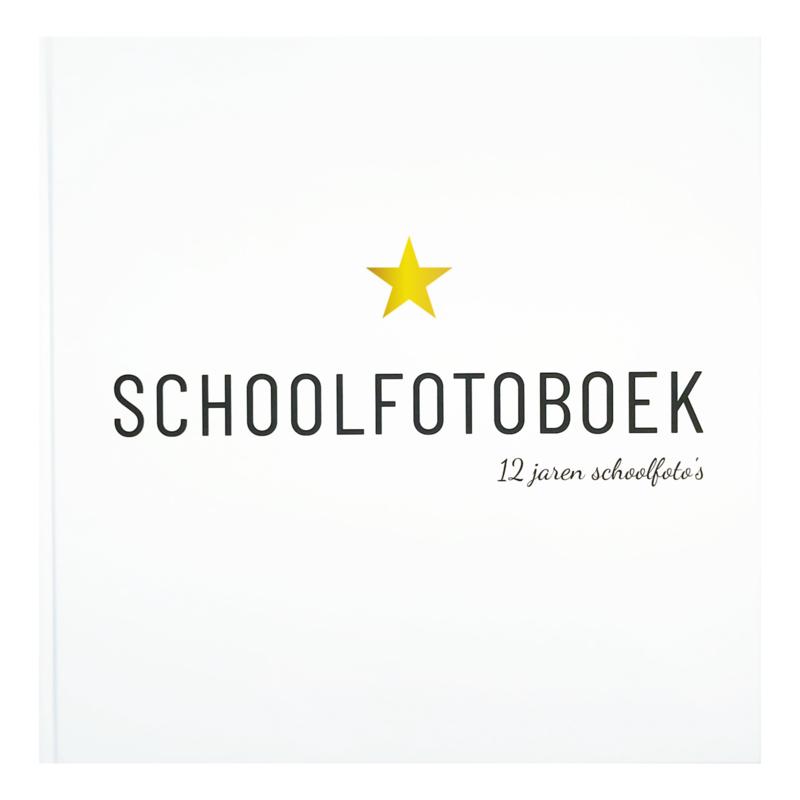 Invulboek Schoolfotoboek  | 12 jaren schoolfoto's | Lifestyle2Love
