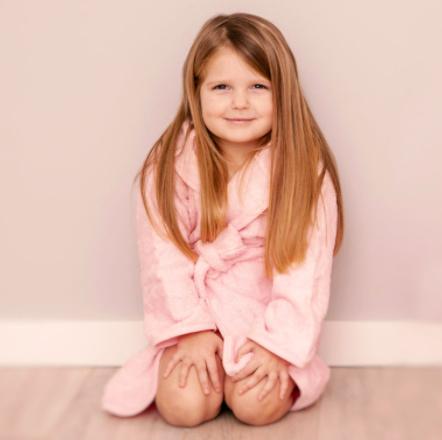 Peuter badjas met naam   2-4 jaar   Meisje