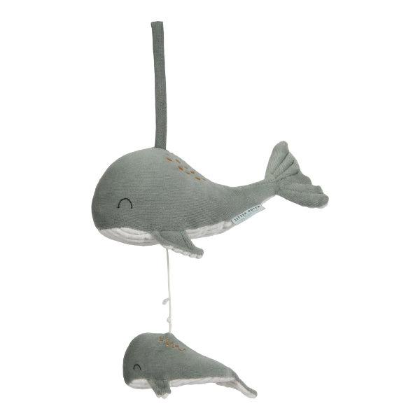 Muziekdoosje walvis mint | Little Dutch