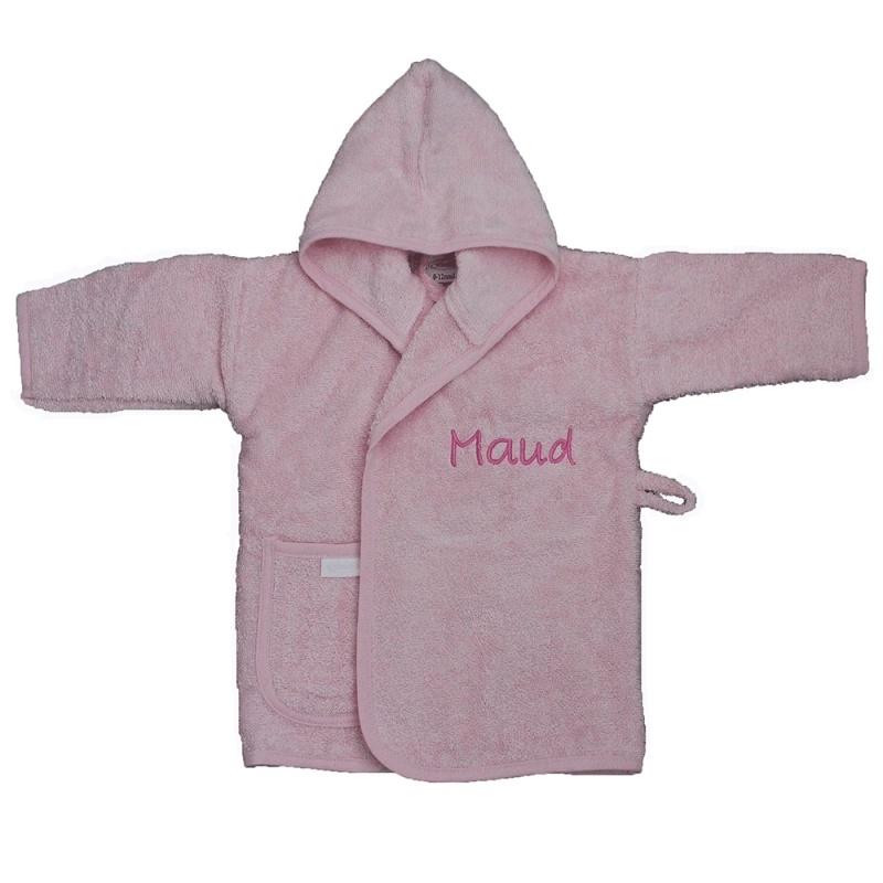 Baby badjas met naam | 0-1 jaar | Meisje