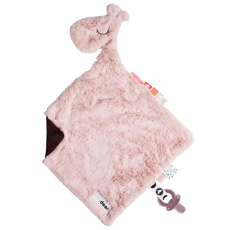 Knuffeldoekje Raffi roze | Done by Deer
