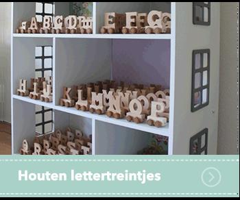 Houten lettertreinen