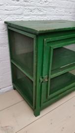 Groen houten vliegenkastje VERKOCHT