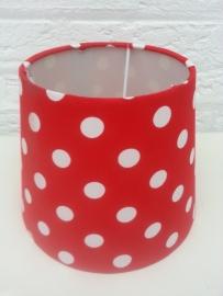 Rood met witte bolletjes lampenkapje