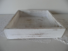 Vierkant houten dienblaadje