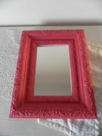 Roze houten lijst met spiegeltje