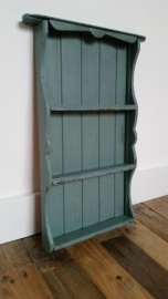 Blauw/Groen houten wandrekje