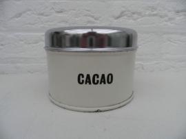 Wit cocao blik met deksel van Brabantia