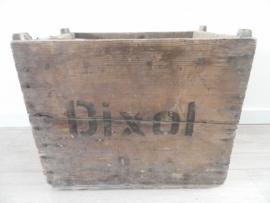 Oud houten kratje met tekst `Dixol` VERKOCHT