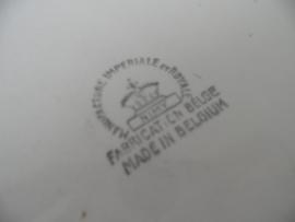 Grote rond porseleinen kom uit Belgie