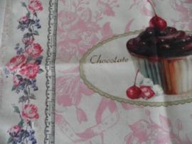 2 Stoffen placemats met cupcake motief