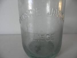 Glazen oude franse beugelfles VERKOCHT