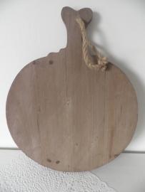 Ronde houten kaas/snijplank VERKOCHT