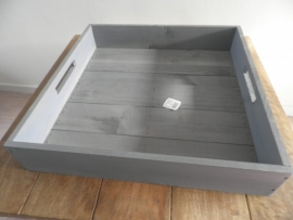 Grijs vierkant houten dienblad VERKOCHT