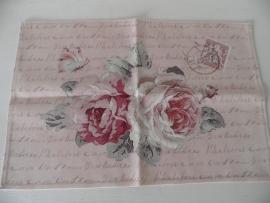 2 Stoffen placemats met bloemmotief VERKOCHT