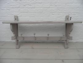 Beige matte houten kapstok