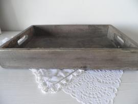Vierkant houten dienblad