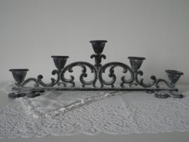 IJzeren decoratieve kaarskandelaar voor 5 kaarsen VERKOCHT