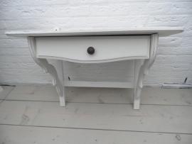 Wit houten wandrek met lade UITVERKOCHT
