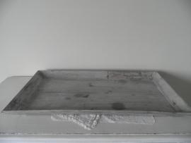 Grijs houten langwerpig dienblad VERKOCHT