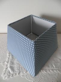 Blauw met witte stippen lampenkapje