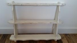 Wit houten wandrek VERKOCHT