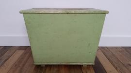 Groene houten kist VERKOCHT