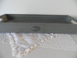 Grijs houten langwerpig dienblad van Riverdale VERKOCHT