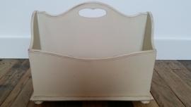 Witte lectuurbak met 2 vakken