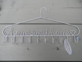 Wit ijzeren hanger met tekst HomeSweetHome