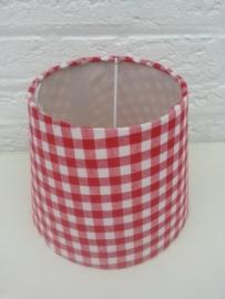 Rood met witte ruitjes lampenkapje