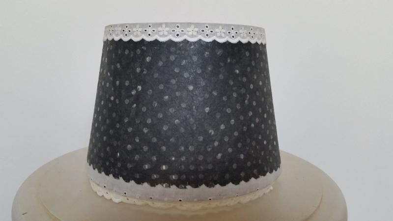 Grijs stippen lampenkapje