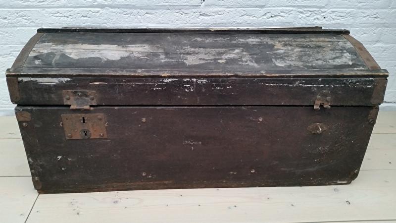 Oude Koffer Kist.Kisten Koffers Kratjes Stijl Junkie
