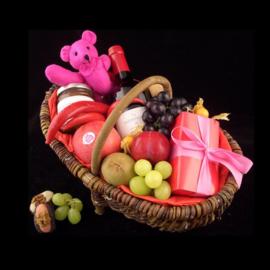 Fruit, wijn en bonbons